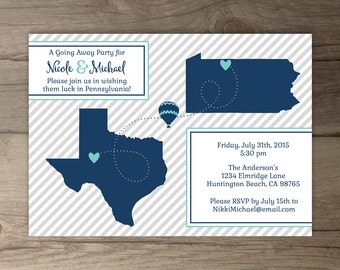 Going Away Party Invitations / Goodbye Party Invites / Moving