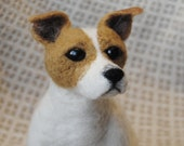 Jack Russell Terrier, Needle Felted Dog, Custom Made Dog Sculpture, Hadmade Animal, 3D Pet Portrait - made to order