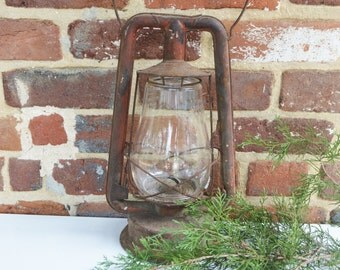 Rustic Red Railroad Large Kerosene DIETZ Lantern