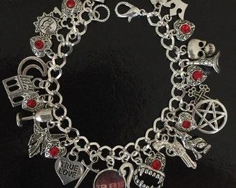 True Blood Charm Bracelet, Sookie Stackhouse, Vampires, Jewelry, Jewellery, Gift