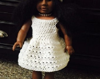 Crochet Dress and Hat for 18 inch Dolls