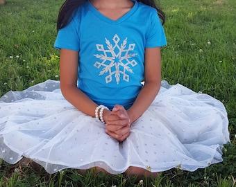 kids snowflake shirt, kids Christmas shirt, glitter snowflake, , Christmas gift, kids clothing, children clothing