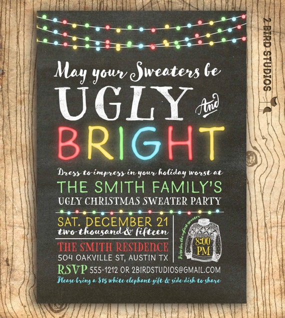 il_570xn - Ugly Christmas Sweater Invitations