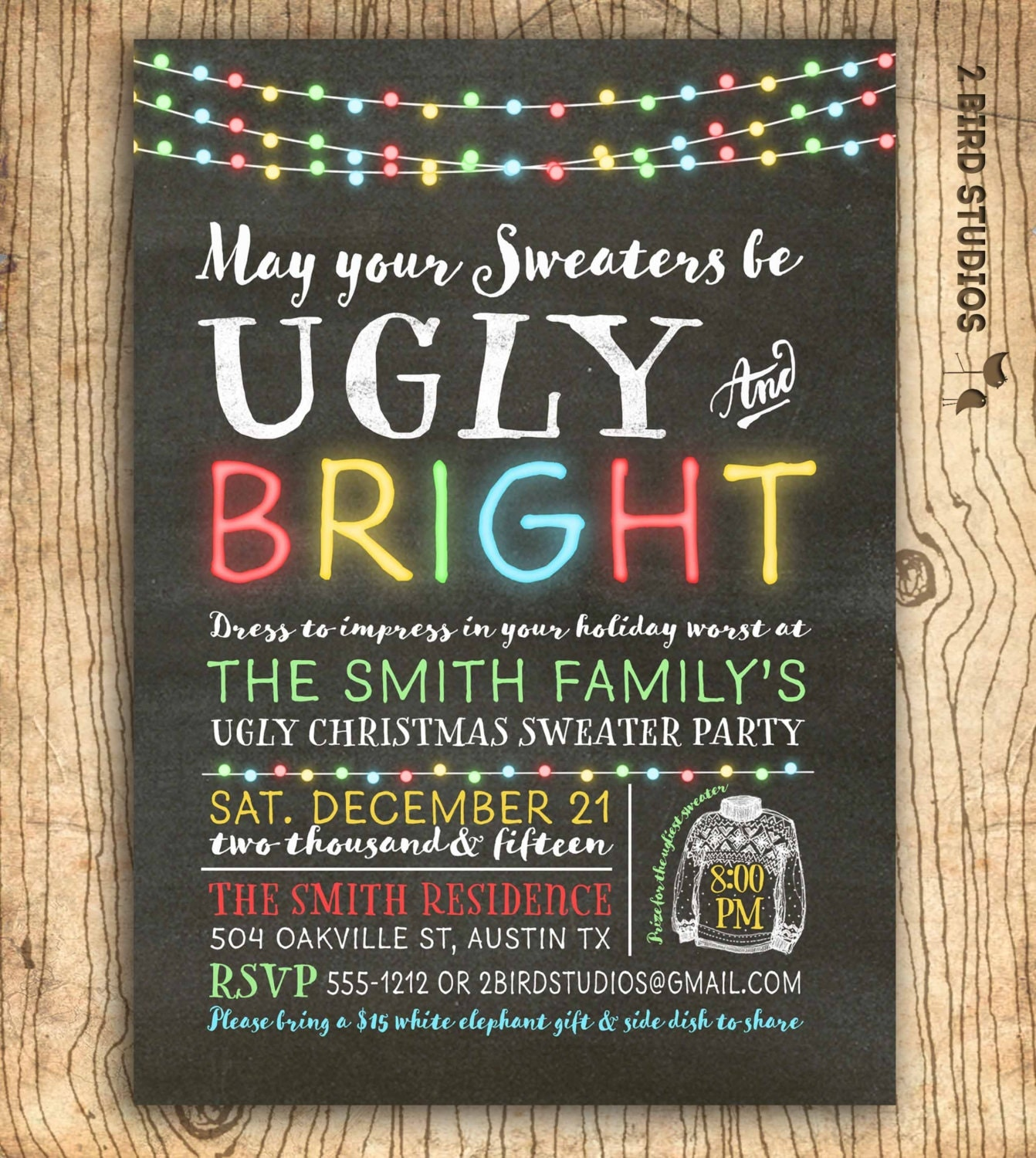 Ugly Christmas Party Sweaters: Ugly Christmas Sweater Invitation Ugly Sweater Party