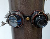 Antique Copper Steampunk Goth Goggles