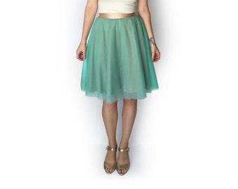 Women mint tulle skirt, Tutu skirt, Mint skirt, Autumn skirt, Bridesmaid skirt, Evening skirt, Midi skirt, Tulle skirt, Tulle skirt casual