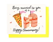 Pizza Cake Anniversary Card
