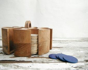 Wood Poker Chip Round