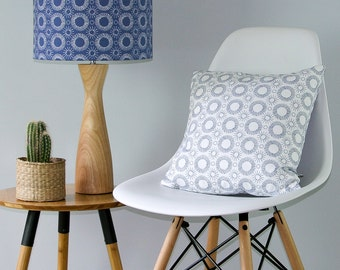 Aster Flower print lampshade.