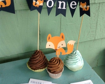 Fox birthday party package set