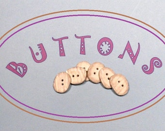 BONE BUTTONS - Set of 6 OVAL natural buttons with off white and grey streaked tones.