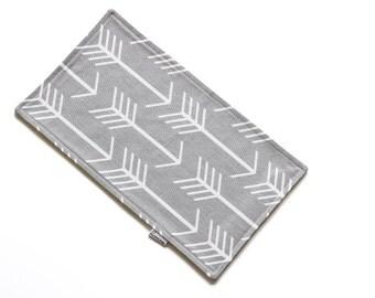 SALE || Burp Cloth || Arrows Grey || Fleece Backing