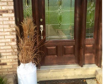 Outdoor Decor Entry Way Milk Can Metal Jugs White Jug Patio Furniture Garden Jugs  B