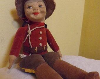 1930s Norah Wellings Canadian Mountie Doll