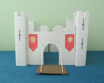 3D Paper Castle Craft: Instant Download Template