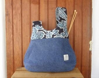 Knot Bag - knitting project hobo  ikat style purse