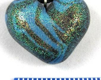 Blue Zebra Glitter Heart