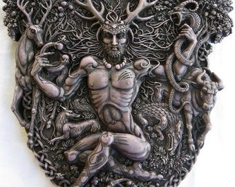 Cernunnos the Horned One, Celtic god of life, fertility, life, animals, prosperity and the Underworld