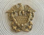 American Eagle Brass Door Knocker - Heavy Brass Door Knocker - American Flag