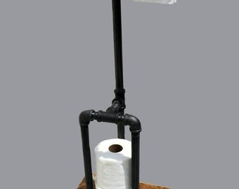 toilet paper holder stand toilet paper stand rustic toilet paper holder iron pipe industrial modern