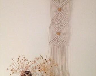 Macrame wall hanging, beaded modern macrame, bohemian home, wall hanging, housewarming