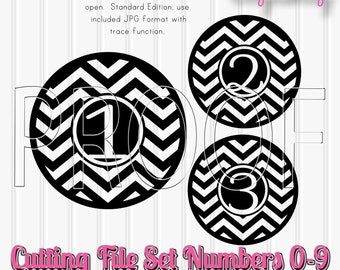 SVG Cut Files Set includes 0-9 SVG number cut files Comes with svg png jpg format commercial use approved! Cut File SVG Chevron Number