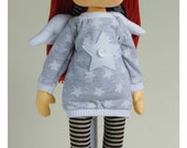 Susie angel with wings - hand made rag doll - by AnneCorner