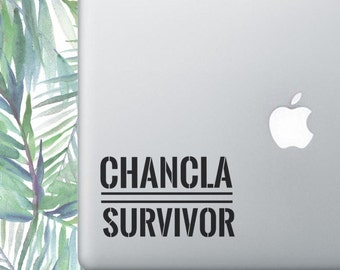 Chancla Survivor, Laptop Stickers, Laptop Decal, Macbook Decal, Car Decal, Vinyl Decal