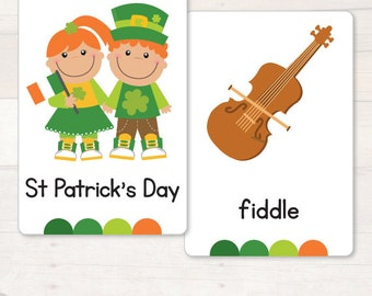 St Patrick's Day Flash/Vocabulary Cards  AUTOMATIC DOWNLOAD