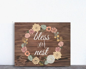 Bless Our Nest / Home Decor / INSTANT Download / Printable