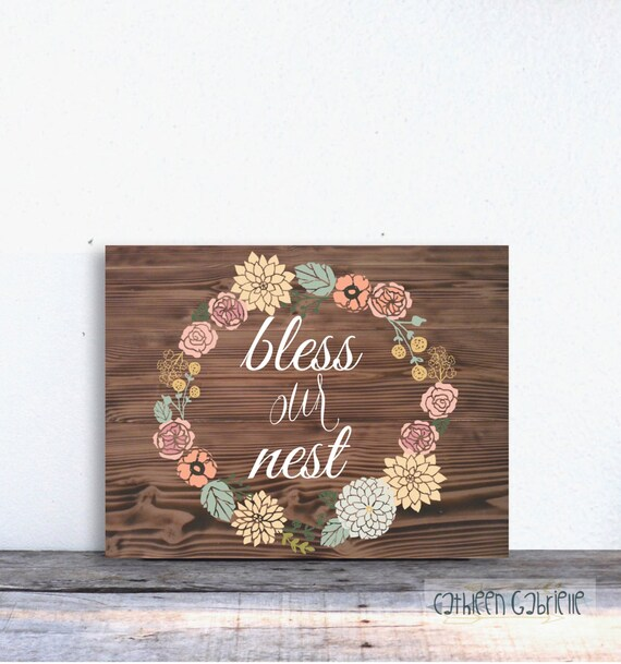 Items similar to bless our nest home decor instant for The nest home decor