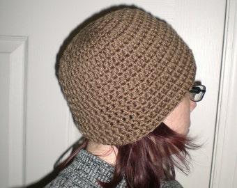 Crochet Beanie - Warm Brown