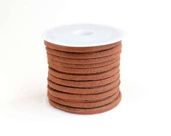 Brown Suede Cord, Faux Suede Lacing, 5 meters