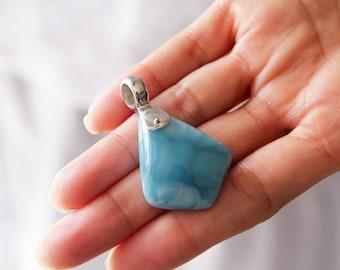Larimar Pendant, Blue Reef, Authentic Larimar Stones Jewelry
