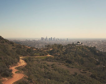 Griffith Park Skyline - Photographic Print - Photography, los angeles, california, cityscape, chicagoland, urban, architecture