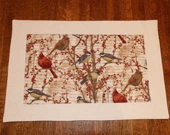 Nestled in Branches Cardinal & Chickadee Place mats