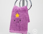 "Adventure Time ""Lumpy Space Princess (LSP)"" Inspired - Embroidered Hand Towel"
