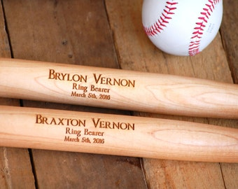 12 Personalized Groomsmen Favors, Custom Baseball Bat, Engraved Bat, Sports Gift, Wedding Decoration - Ring Bearer Gift, Engraved Keepsake