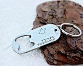 Texas Forever - Bottle Opener Keychain - Texas Keychain - Men's Keychain - Men's - Gift for Him - Personalized Bottle Opener - Beer Opener