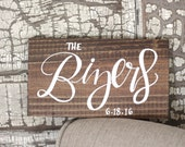 Rustic Wooden Sign, Family Name Sign, Save the Date Sign, Photo Prop Sign, Wedding Keepsake Gift, Farmhouse Decor, Home Wall Art