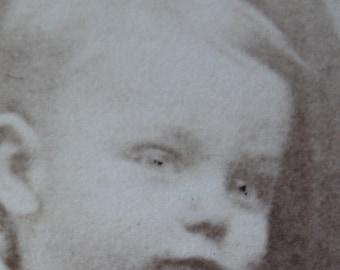 Antique CDV, Circa 1800s, Photo of Toddler