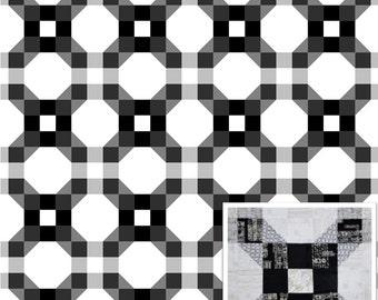 Chainlink Modern Quilt Pattern PDF