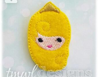 "Emoji Princess Aurora Feltie Digital Design File - 1.75"""