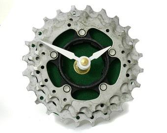 recycled bicycle cog clock bike gear clock industrial desk clock bike clock