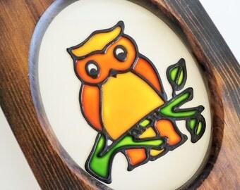 Groovy Golden Owl Wall Decor
