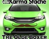 """36"""" Car Mustache Vinyl Decal Sticker - Style; Olde Boxer - Color; Brown  -  Karma Stache: Your #1 Source for Car Mustaches!"""