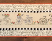 Dutch bicycle quilt , Quilted Art, quilted wall hanging, home decor, fabric wall art, modern art quilt