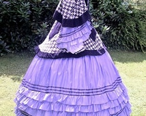1850s 1860s Mantle - Steampunk Victorian Winter Coat - Crinoline American Civil War SASS LARP Reenactment