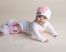 BOUTIQUE STYLE-Baby Girl Clothing set-Newborn Photo Prop-Heart-Couture-Take me home-clothing set-Baby Girl clothing-leg warmer set-hat