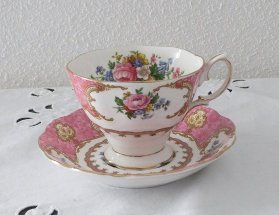 Vintage Large 018 Ltr Tea Or Coffee Cup And Saucer Royal